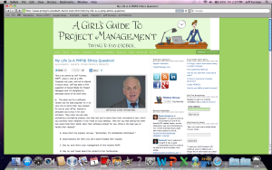 """""""My Life Is A PMP Test Question"""" (My guest blog)"""