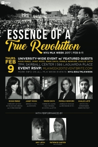 Thursday Feb. 9 (part of MLK Week 2017 at NYU)