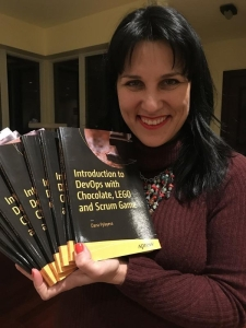 Dana Pylayeva, with her new book