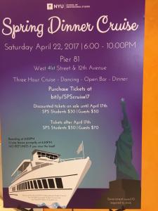 NYU Spring Dinner Cruise (April 22)
