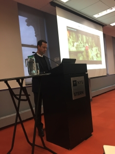 Laurent Claquin, President of Kering Americas, presenting for ISSP NYC (4/19/2017) at NYU Stern